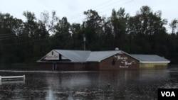 Inundaciones en Carolina del Norte un día después de que la tormenta Florence tocara tierra. (Foto: Iacopo Luzi)