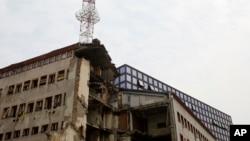 Zgrada RTS-a uništena tokom NATO bombardovanja Foto: AP