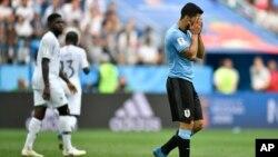 سوارز مهاجم تیم یوروگوای و بارسلونا نیز پس از رونالدو و لیونل مسی، با جام جهانی ۲۰۱۸ روسیه وداع گفت.