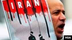 Decenas de personas salieron a las calles de Irán para protestas por la ejecución de los dos activistas.