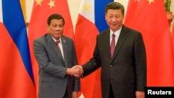 中国国家主席习近平2017年5月16日在一带一路论坛期间会见菲律宾总统杜特尔特