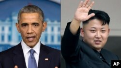 Predsednik SAD Barak Obama i severnokorejski lider Kim Džong Un