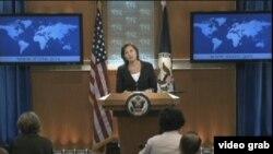 امریکی محکمہ خارجہ کی ایک ترجمان وکٹوریہ نلیڈ (فائل فوٹو)
