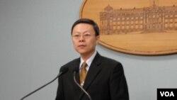 台湾主管大陆事务的陆委会主委王郁琦(美国之音樊冬宁拍摄)