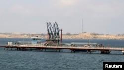 FILE - A general view of Libya's Hariga port in Tobruk, east of Benghazi.
