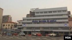 Edificio da Policia Nacional de Angola, na Baixa de Luanda, Angola