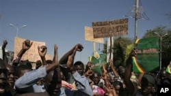 Manifestation à Bamako en faveur d'une intervention militaire internationale au Nord-Mali (8 déc. 2012)