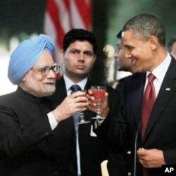 Le président Obama et le Premier ministre indien Manmohan Singh