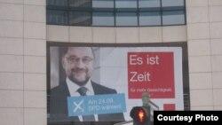 Плакат на здании главного офиса СДПГ (Социал-демократической партии Германии)
