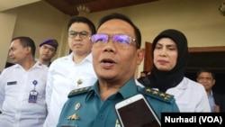 Sekretaris Jenderal Kementerian Pertahanan, Laksamana Madya Agus Setiadji. (Foto:VOA/Nurhadi)