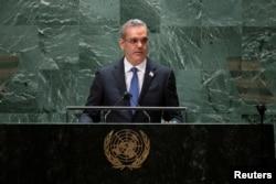 Presidente de Republica Dominicana habla en recién culminada 76 Asamblea General de la ONU.