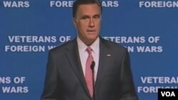 美国共和党总统竞选人罗姆尼(视频截图)