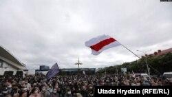 На акции протеста в Минске. 31 мая 2020 г.