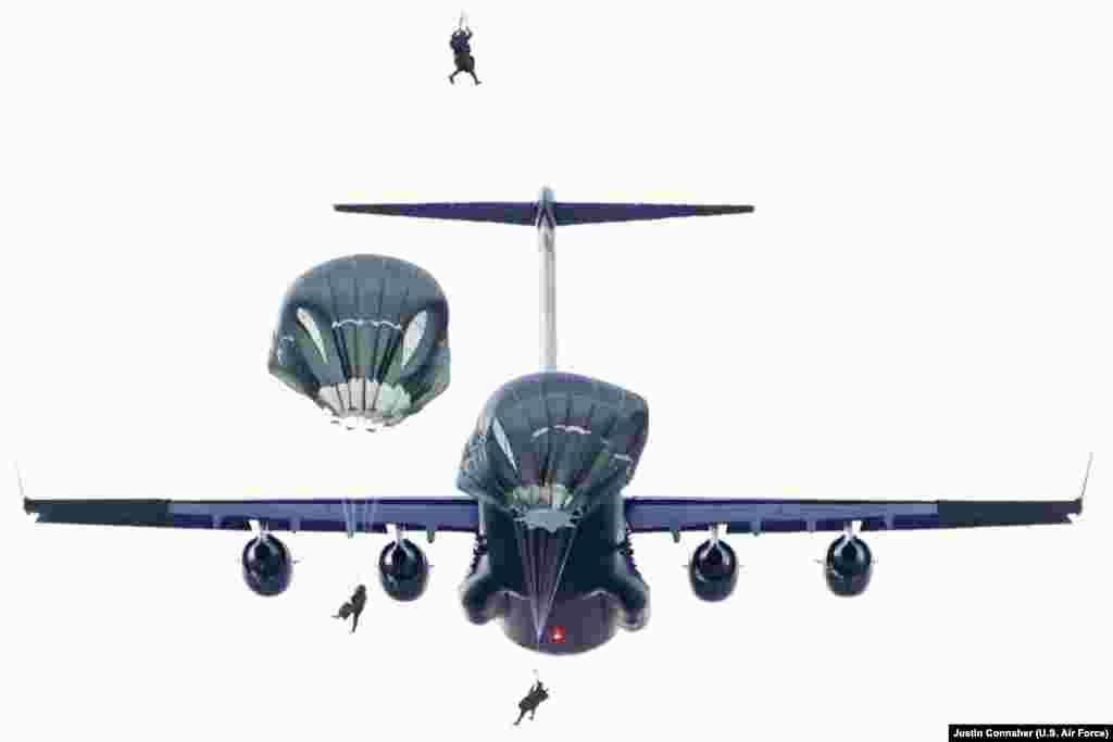 گوشه هایی از تمرینات قوای هوایی ایالات متحده امریکا