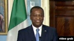 Ministan harkokin wajen Najeriya Geoffrey Onyeama a lokacin wata ziyara da ya kawo Amurka a bara