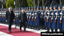 İlham Əliyev və Nursultan Nazarbayev
