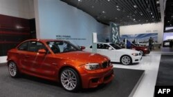 Các loại xe tại một cuộc triển lãm xe hơi