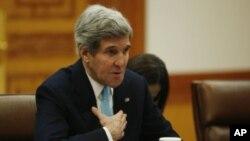 El secretario de Estado de EE.UU., John Kerry, durante su reunión en Seúl con el presidente de Corea del Sur.