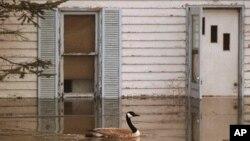 Banjir di bagian barat Kanada membuat jalan-jalan tertutup air dan jembatan-jembatan sulit dilalui. (Foto: Dok)