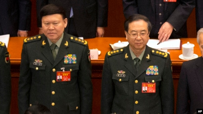 中国上将张阳与房峰辉的罪名