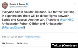 Twitter Presiden AS Donald Trump. (Foto: Courtest/Twitter Donald Trump)