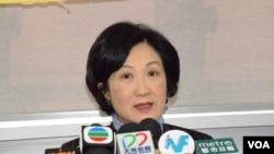 香港特首選舉參選人葉劉淑儀 (美國之音湯惠芸拍攝)
