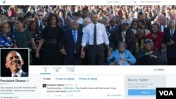 U.S. President Barack Obama's new Twitter account @POTUS