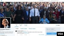 Akun Twitter baru Presiden AS Barack Obama @POTUS