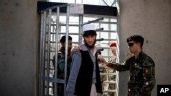 Tahanan Afghanistan di penjara AS di Bagram, di luar kota Kabul, Afghanistan. (Foto: Dok)