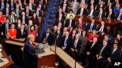 特朗普在国会发表国情咨文演说。(2020年2月4日)