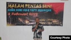 Muhammad Arifin, guru di SLB-A Yapti Makassar, Sulawesi Selatan.