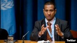 Ahmed Shaheed, rapporteur spécial des Nations unies sur la liberté de religion, le 21 novembre 2011.