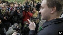 Russian gay activist Nikolai Alexeyev (file photo)