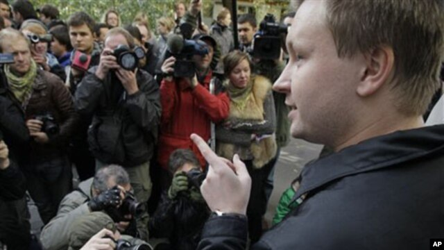 Russian gay activist Nikolai Alexeyev (file photo)