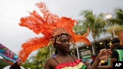 A dancer in Little Haiti, a neighborhood in Miami.