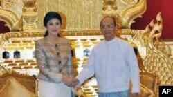 緬甸總統吳登盛會見昂山素姬(資料圖片)