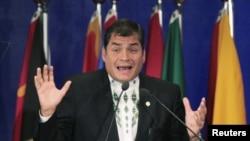 El presidente Rafael Correa lidera las encuestas y podría presentarse como candidato para la reelección.