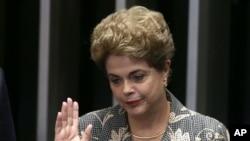 Dilma Rousseff, destituée en août 2016 pour maquillage de fonds publics à des fins politiques...