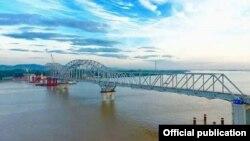 ေဆာက္လုပ္ေနတဲ့ သံလြင္တံတား (ေခ်ာင္းဆံု)- Tun Min Aung Facebook