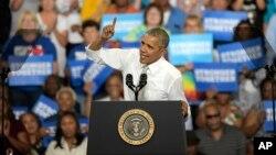 اوباما حمایت از کلینتون را با سخنرانی در برخی ایالت ها دنبال می کند.