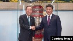 中国2015年赠联合国的《和平尊》(联合国图片)