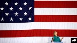 Hillary Clinton lors d'un meeting à Des Moines, en Iowa, le 14 juin 2015. (AP Photo/Charlie Neibergall)