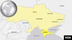 VOA đã có sửa đổi trong bản đồ cho thấy Ukraine và Crimea là hai quốc gia riêng rẽ. VOA không cố ý gây cảm tưởng như vậy, bản đồ hiện đang sử dụng mô tả tốt hơn về tình hình hiện nay. VOA xin cáo lỗi nếu đã có sự hiểu lầm do sai sót này gây ra.