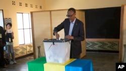 Prezida Kagame mu matora