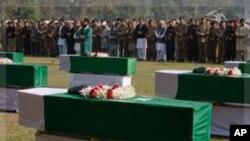 오폭으로 사망한 파키스탄 군 장례식
