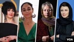 از سمت راست: لیلا حاتمی، رخشان بنی اعتماد، شیرین نشاط و میترا فراهانی