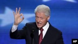 美国前总统克林顿2012年在美国民主党代表大会上讲话
