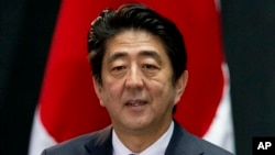 日本首相安倍晉三 (資料圖片)