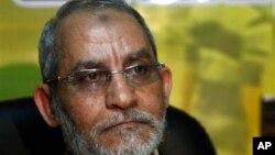 20일 체포된 무함마드 바디에 무슬림형제단 최고지도자. (자료사진)