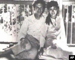 昂山素季和她的丈夫阿里斯